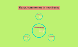 Slaves/commoners in new france
