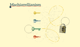 Machiavellianism