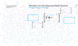 Refresher for the Reluctant Math Teacher