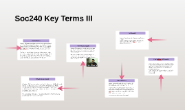 Soc240 Key Terms III