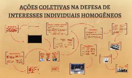AÇÕES COLETIVAS NA DEFESA DE INTERESSES INDIVIDUAIS HOMOGÊNE