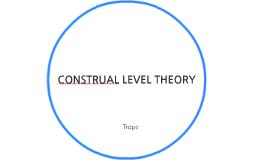 CONSTRUAL LEVEL THEORY