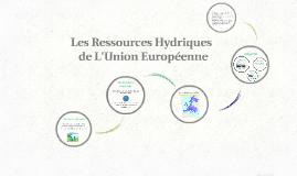 Les Ressources Hydriques