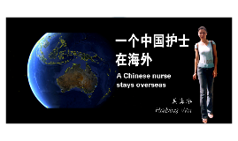 a chinese nurse stays overseas
