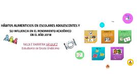 HÁBITOS ALIMENTICIOS EN ESCOLARES ADOLESCENTES Y