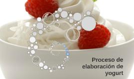 Proceso de elaboracion de yogurt