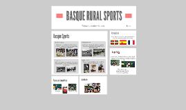 BASQUE RURAL SPORTS