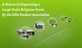 A How to in Organizing a Large-Scale Religious Event