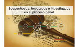 Sospechosos, imputados o investigados en el proceso penal