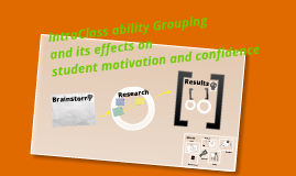 Intraclass ability grouping and its effects on student motivation and confidence
