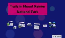 Trails in mount rainier p