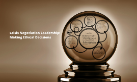 Crisis Negotiations Leadership: Making Ethical Decisions