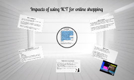 Copy of Copy of Impacts of using ICT for online shopping