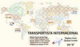 TRANSPORTISTA INTERNACIONAL
