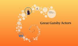 Great Gatsby Actors