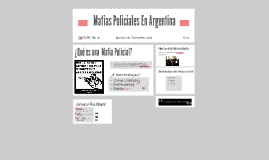 Mafias Policiales En Argentina