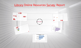 On-Line resources Survey 2016