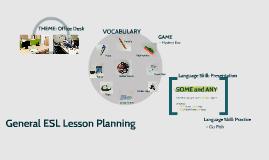 General ESL Lesson Planning