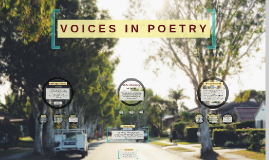 Voices in poetry