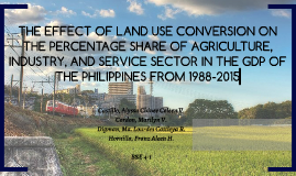 THE EFFECT OF LAND USE CONVERSION ON THE PERCENTAGE SHARE OF