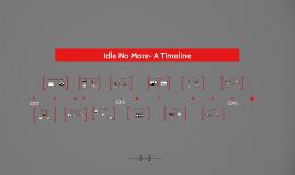 Idle No More- A Timeline