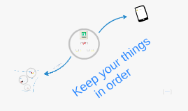 Keep your things in order