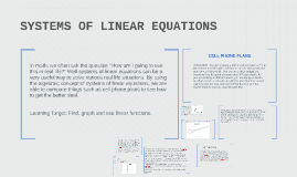 Copy of SYSTEMS OF LINEAR EQUATIONS