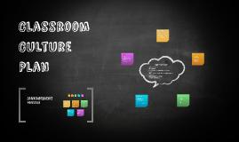 Classroom Culture Plan