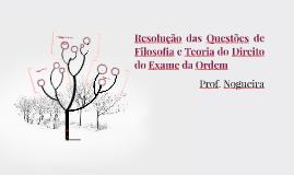 Questões de Filosofia e Teoria do Direito do Exame da Ordem