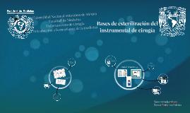 Copy of Bases de esterilización del instrumentalde cirugía