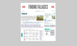 FINDING FALLACIES