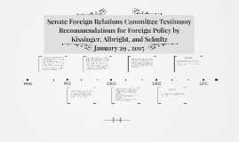 Senate Foreign Relations Committee Testimony