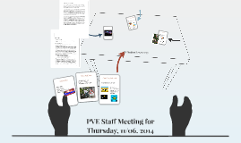 PVE Staff Meeting for Thursday, 11/06. 2014