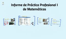 Informe Práctica Profesional I