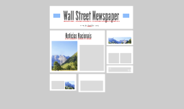 Wall Street Newspaper