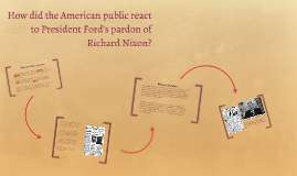 How did the American public react to President Ford's pardon