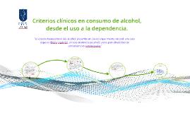 Criterios clínicos en consumo de sustancias.