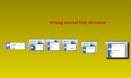 Getting Access to Writing Internal Only