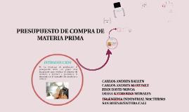 Copy of PRESUPUESTO DE COMPRA DE MATERIA PRIMA