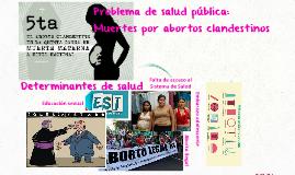 Problema de salud pública: muertes por abortos clandestinos