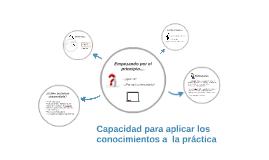 Copy of Capacidad para aplicar los conocimientos a  la práctica