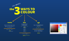 CSS Basics: How to declare colours