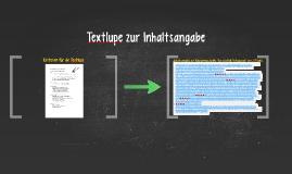 Copy of Textlupe zur Inhaltsangabe