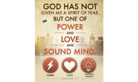 Poder, amor y dominio propio