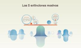 Las 5 extinciones masivas
