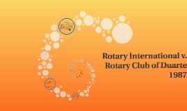 Rotary International v. Rotary Club of Durarte