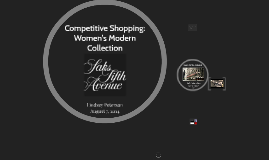 Competitive Shopping: Women's Modern Collection