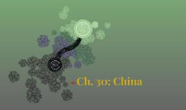 Ch. 30: China