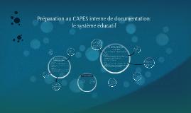 Préparation au CAPES interne: le système éducatif