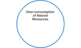 Over-consumption of Natural Resources